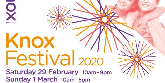 Knox Festival 2020 flyer