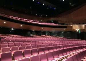 Image shows empty theatre seats at Bunjil Place Theatre