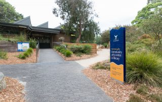 Exterior of Ferntree Gully Community Arts Centre