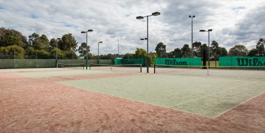 Eildon park Tennis CLub outdoor courts with lighting