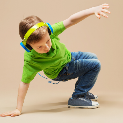 Young boy dancing