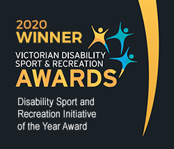 2020 Victorian Disability Sport and Recreation Initiative of the Year Award winner graphic