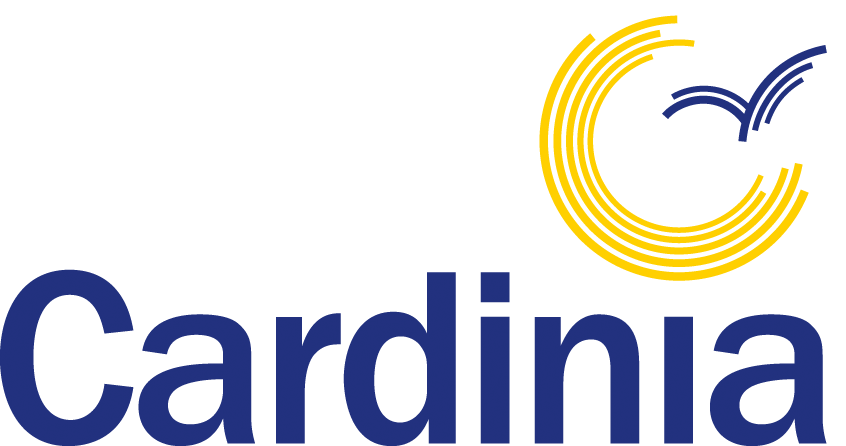 Cardinia Shire Council logo with blue text and yellow artwork