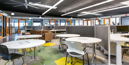 Co working space and offices at Eastern Innovation Business Centre