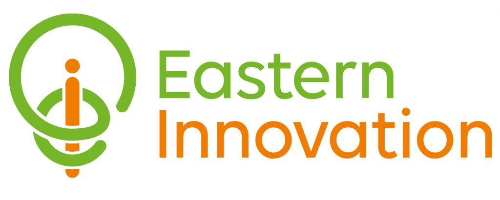 Eastern Innovation green and orange logo